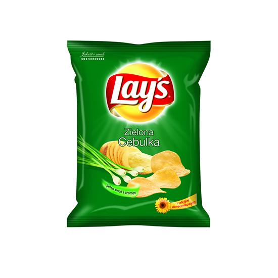 Lay's Chipsy Zielona Cebulka 140g/80g