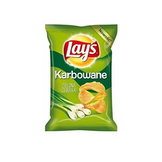 Lay's Chipsy Karbowana Zielona Cebulka 140g